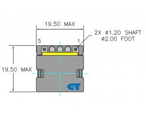 Planar Transformer CET-TI25 Dimensions