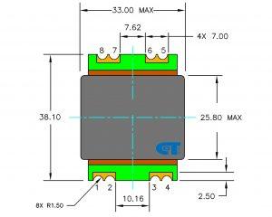 Planar Transformer CET-TP32